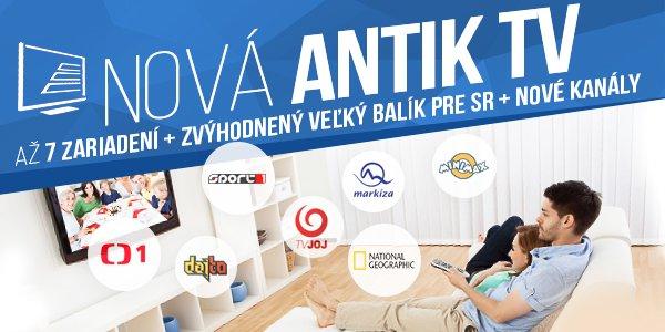 8a590083d Vážený zákazník novej služby Antik TV